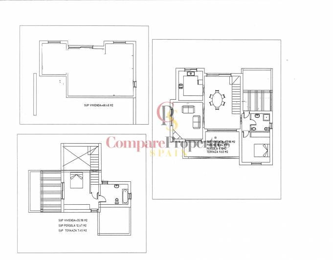Kurzzeitvermietung - New Build Properties - Moraira - La Cometa